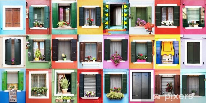 Fotomural Estándar Finestre colorate di Burano - Casa y jardín