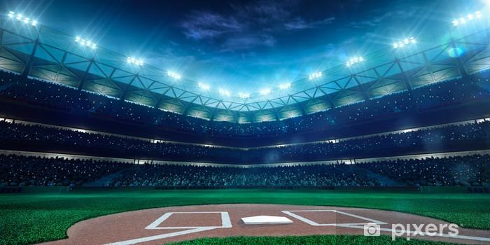 Fototapeta winylowa Profesjonalne baseball Grand Arena w nocy - Sporty drużynowe