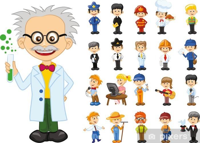 Para Niños De Dibujos Animados Caras Diferentes: Fotomural Personajes De Dibujos Animados De Diferentes
