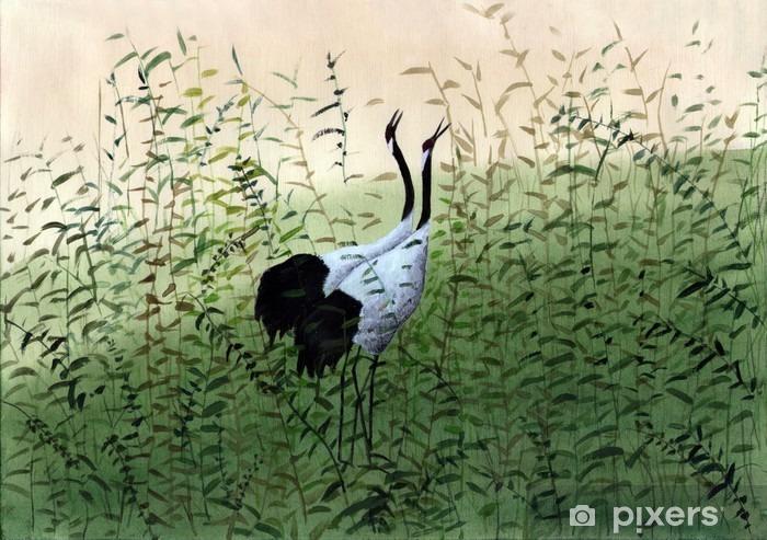 Vinil Duvar Resmi Iki kuş - Hobi ve eğlence