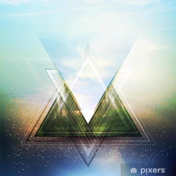 Abstract triangle future vector background Washable Wall Mural - Business