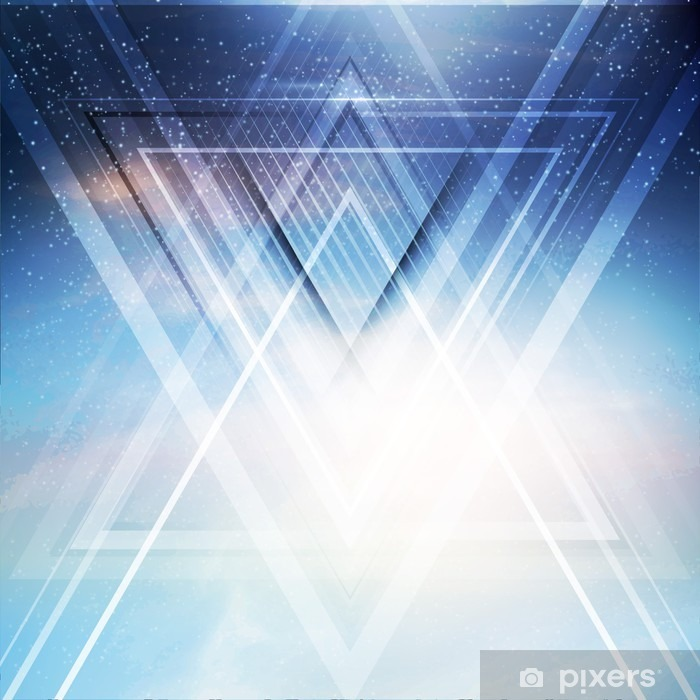 Abstract triangle future vector background Poster - Business