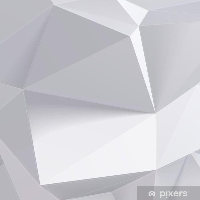 Sticker Pixerstick Faible forme de géométrie de polygone. Vector illustration - Business