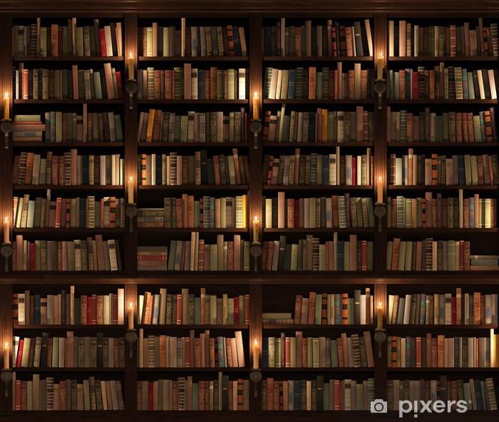 Papier peint vinyle Étagère à livres. Seamless texture (verticalement et horizontalement) - Bibliothèque