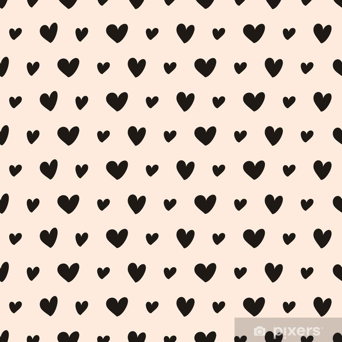 Sticker Pixerstick Coeurs dessinés à la main Seamless pattern - Styles