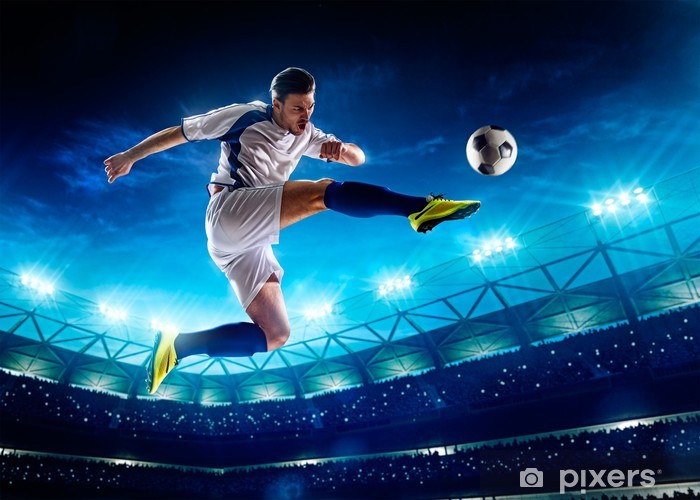 Soccer player in action Pixerstick Sticker - Team Sports