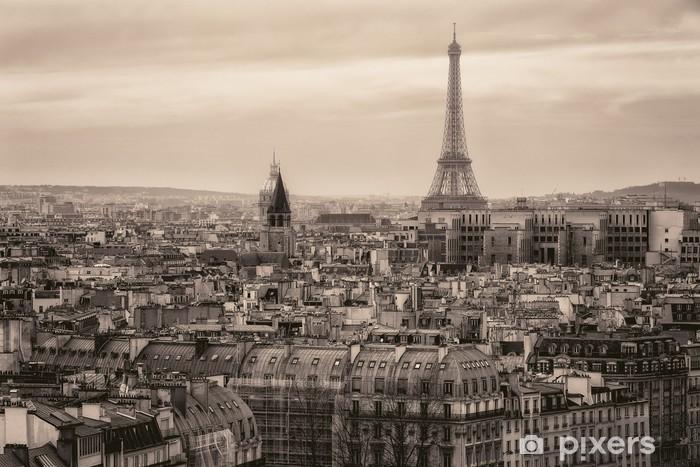 Papier Peint Vue De Paris Et De La Tour Eiffel Den Haut Pixers