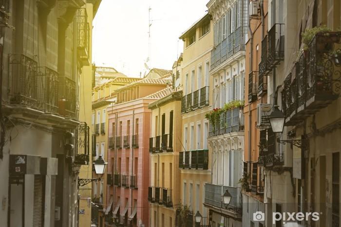 """Vinyl-Fototapete Madrid, bunte alte Nachbarschaft von """"Lavapies"""", Spanien - Europäische Städte"""