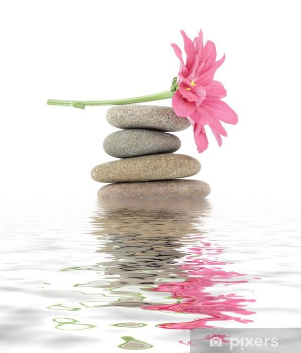 zen / spa stones with flowers Pixerstick Sticker - SPA & Wellness