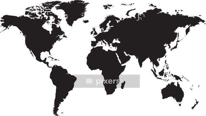 World map isolated on white background Wall Decal - Backgrounds