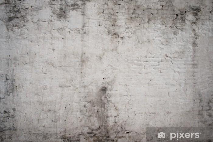 Fotomural Estándar Blanco gris antigua calle de cemento de la vendimia del grunge oxidado bruto edad - Texturas