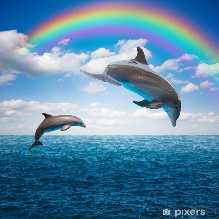 Naklejka Pixerstick Kilka skoków delfinów - Tematy