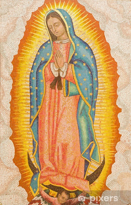 Jerusalem - mosaic of Our Lady of Guadalupe in Dormition abbey Vinyl Wall Mural - iStaging