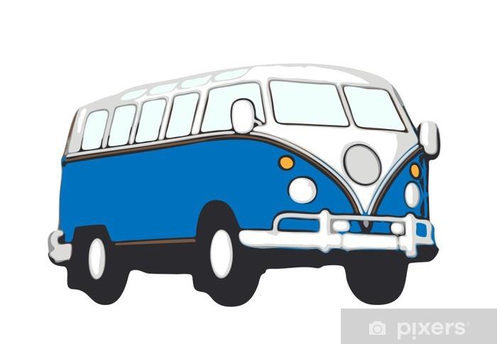 blauer vw bus hippie Vinyl Wall Mural - On the Road