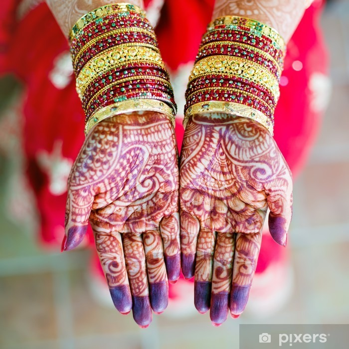 Henna Wedding Design Sticker Pixers We Live To Change