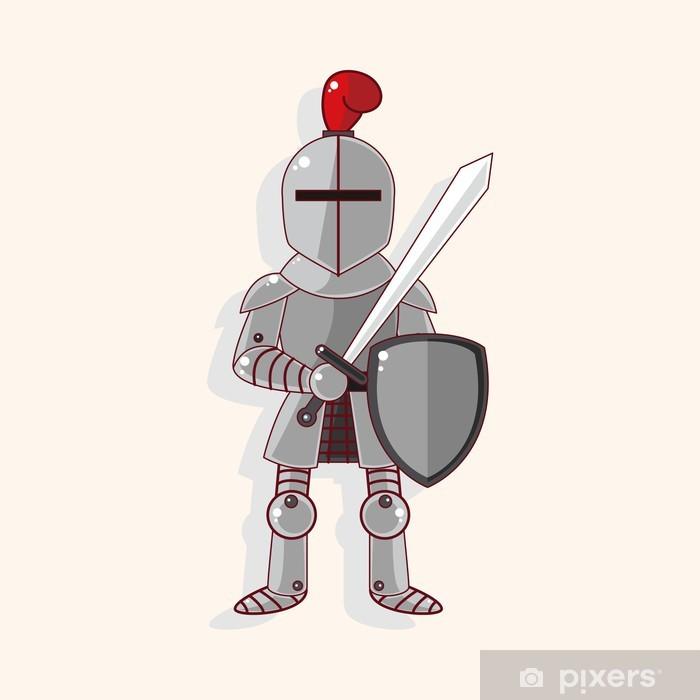Papier peint vinyle Éléments de thème chevalier - Signes et symboles