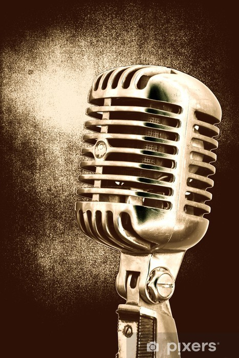 557f999b0 Vintage Microphone Wall Mural • Pixers® • We live to change