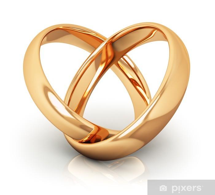 Sticker Anneaux De Mariage En Or Pixers Nous Vivons Pour Changer