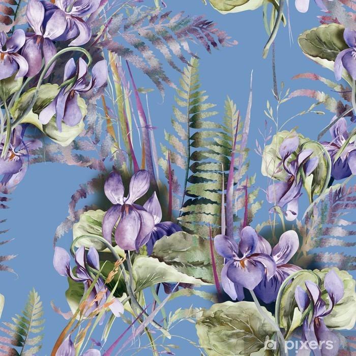 Poster Viola Seamless Pattern - Hobbys und Freizeit