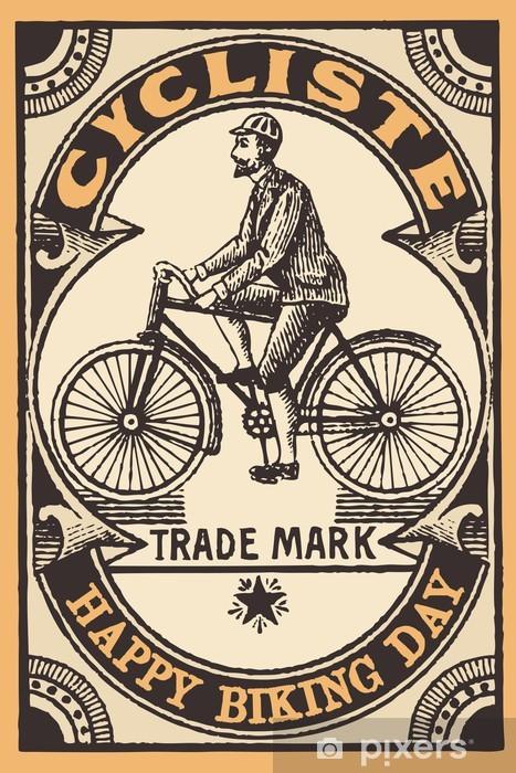 Papier peint vinyle Le cycliste - Sur la route