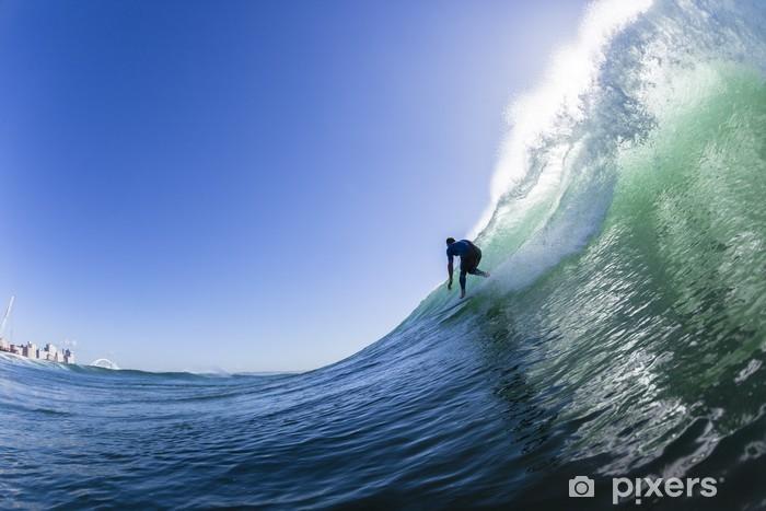 Surfing Action Wave Swimming Pixerstick Sticker - Individual Sports