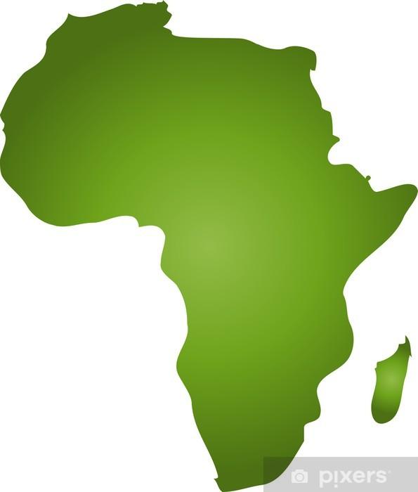 afrika im umriss Pixerstick Sticker - Backgrounds