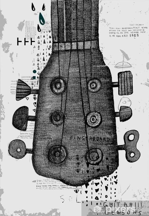 Fototapeta winylowa Гриф от гитары - Hobby i rozrywka