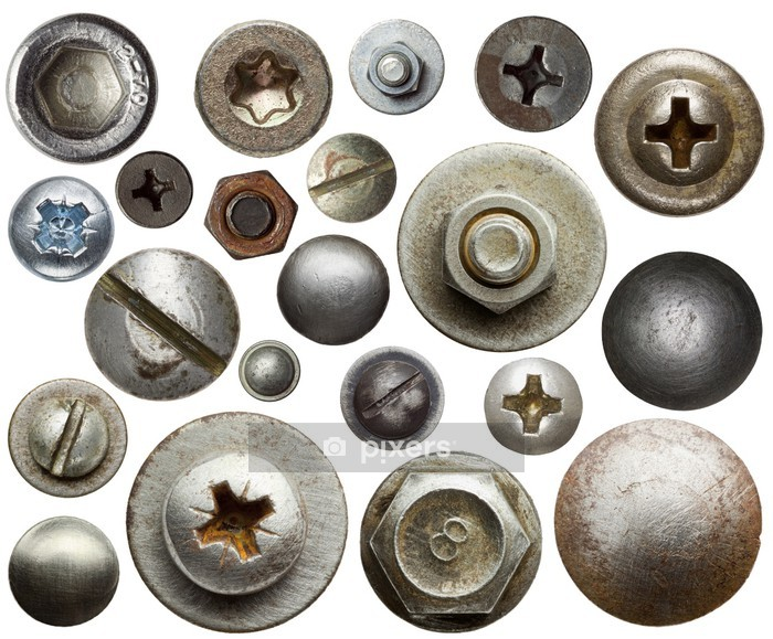 Metal details Wall Decal - Industrial Tools