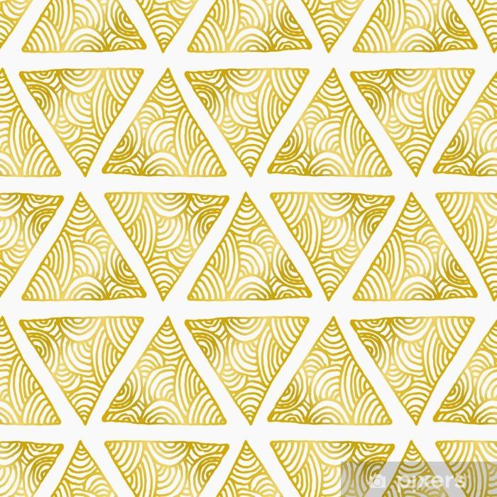 Naklejka Pixerstick Abstract Triangles Seamless Pattern - Tła