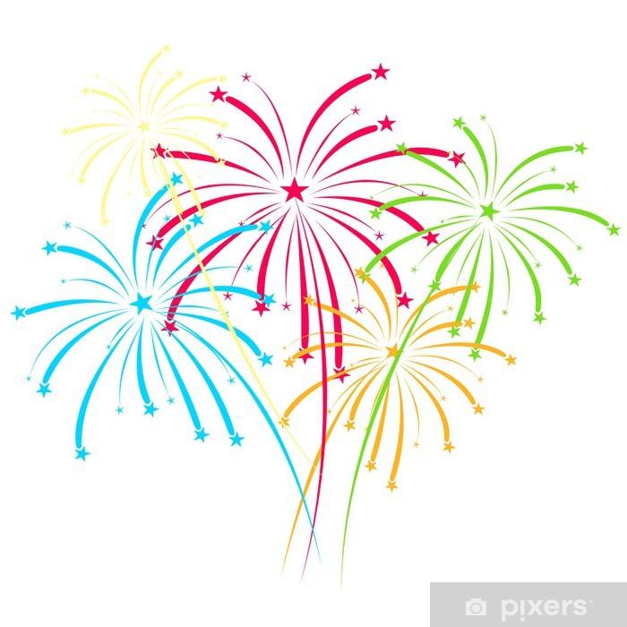 Carta da Parati Fuochi d'artificio vettoriale su sfondo bianco ÂÂ• Pixers® -  Viviamo per il cambiamento