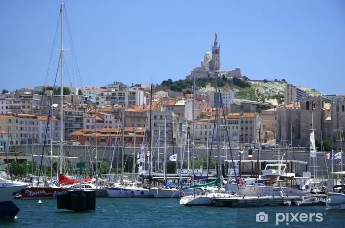 Pixerstick Sticker Marseille, onze dame van de wacht op de oude haven - iStaging