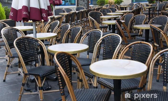 Terrasse De Cafe Parisien Wall Mural Pixers We Live To Change