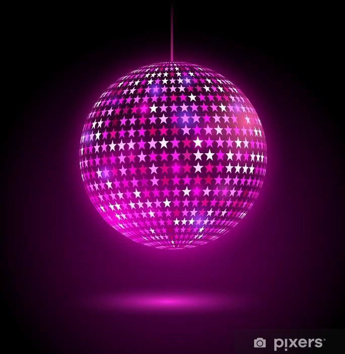 Immagini Palla Da Discoteca.Carta Da Parati In Vinile Glowing Palla Da Discoteca Con Le Stelle