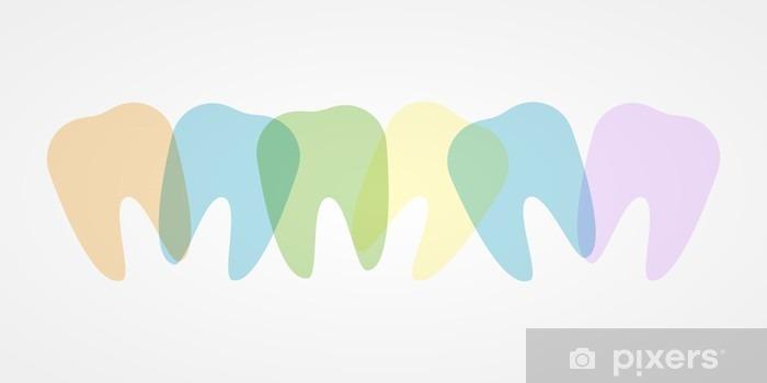 Fotomural Estándar Los dientes de colores ilustración - Ciencia