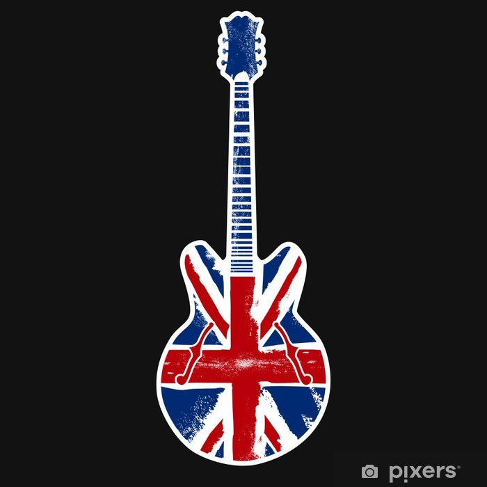 british rock n roll Vinyl Wall Mural - Themes