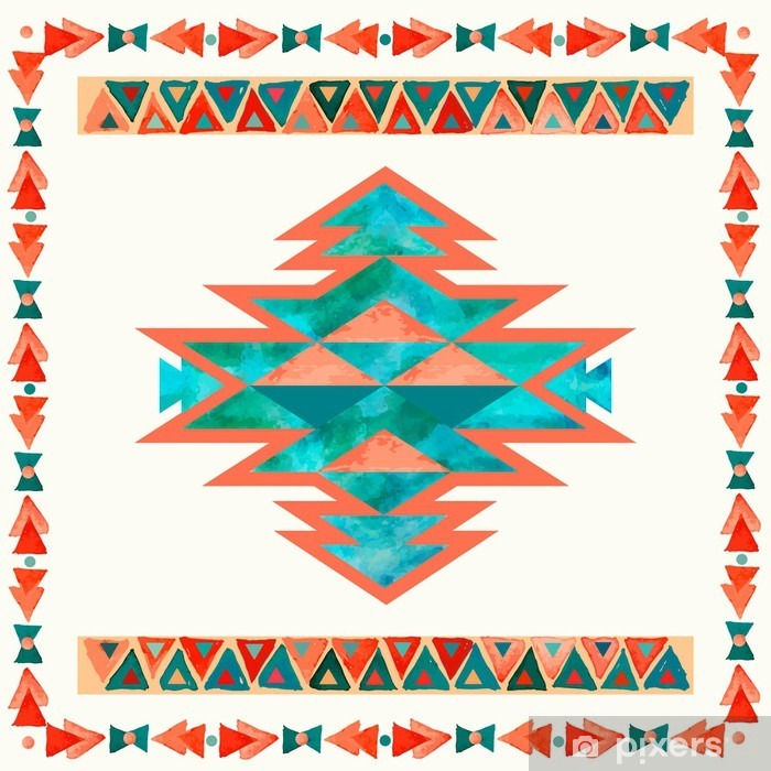 Navajo aztec textile inspiration pattern. Native american indian Poster - States of Mind