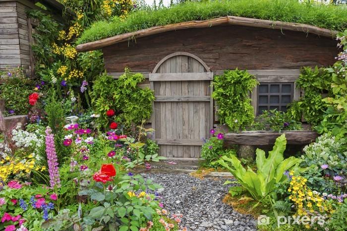 Papier Peint Jardin Paysage D Une Maison Ancienne Avec Jardin