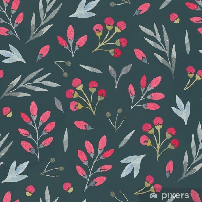 Naklejka Pixerstick Akwarela bez szwu kwiatowy wzór - Kwiaty i rośliny