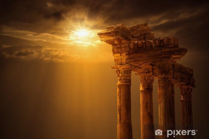 Papier peint vinyle Temple d'Apollon, la ville d'Antalya, Side - Monuments