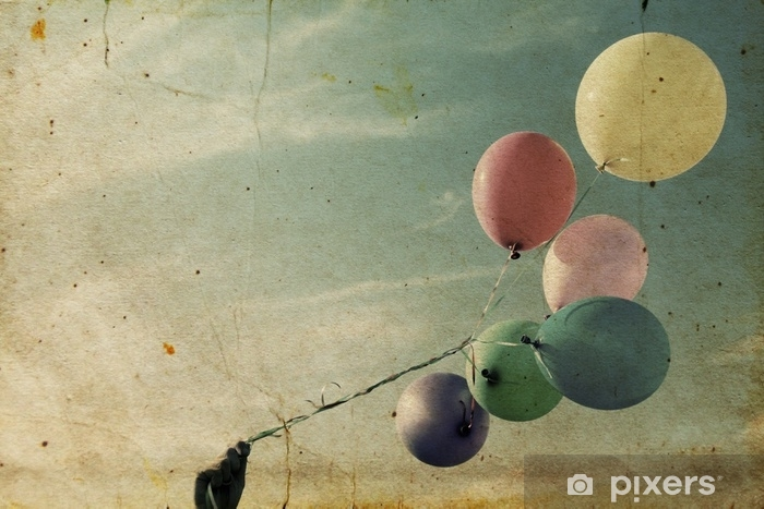 Vinyl Fotobehang Close-up van kleurrijke ballonnen - Grafische Bronnen