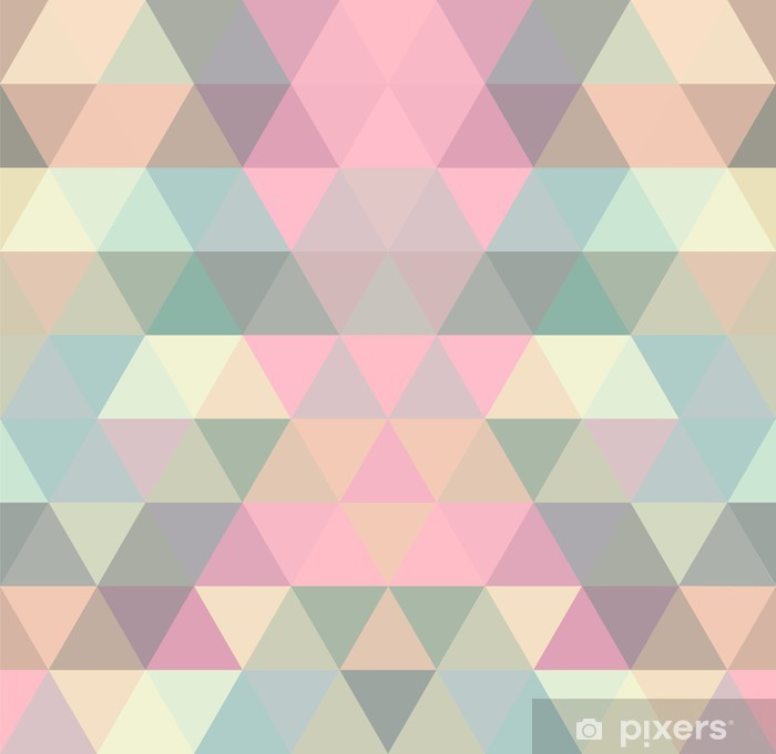 Mosaic triangle background. Geometric background Pixerstick Sticker -