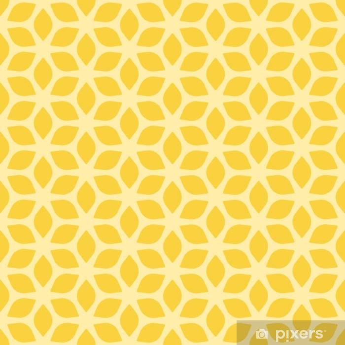 Vinyl-Fototapete Dekorativer nahtloser geometrischer gelber mit Blumenhintergrund - Grafische Elemente