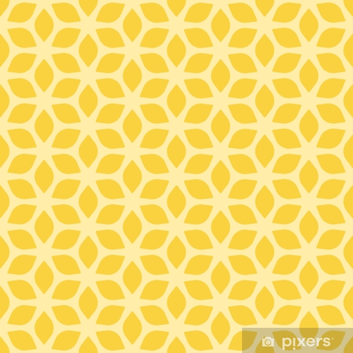 Decorative Seamless Floral Geometric Yellow Background Vinyl Wall Mural - Graphic Resources
