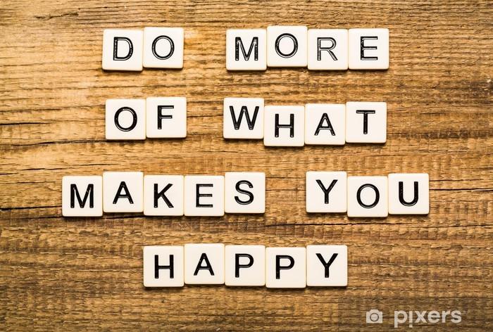 Papier peint vinyle La passion. Faire plus de ce qui rend la carte Vous heureux avec bokeh - Signes et symboles