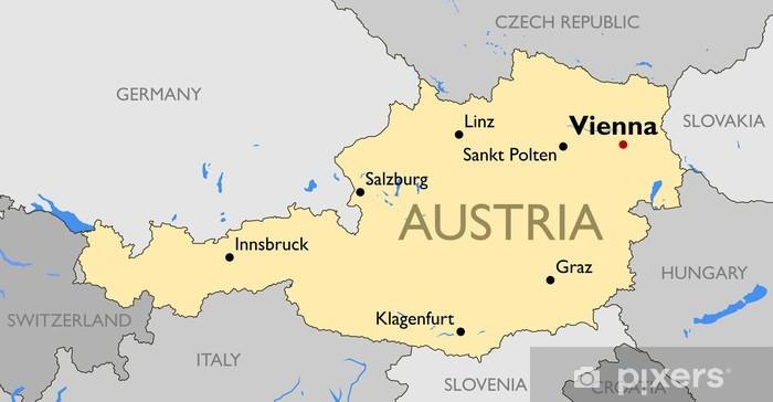 Fototapeta Austria Map Pixers Zyjemy By Zmieniac