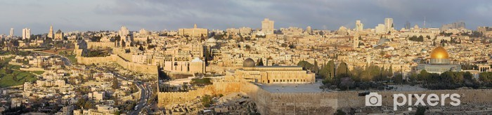 Pixerstick Dekor Jerusalem - Panorama från Oljeberget - Mellanöstern