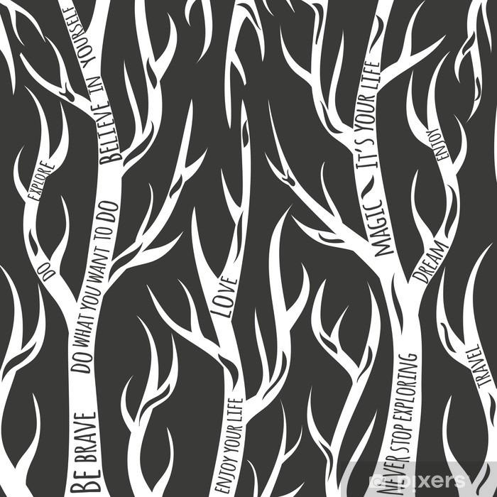 Fototapeta winylowa Las ilustracji wektorowych mądrości - Zasoby graficzne