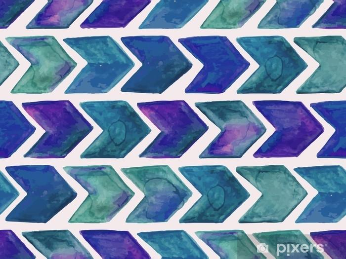 Papier peint vinyle Vecteur motif géométrique aquarelle transparente avec des flèches - Ressources graphiques