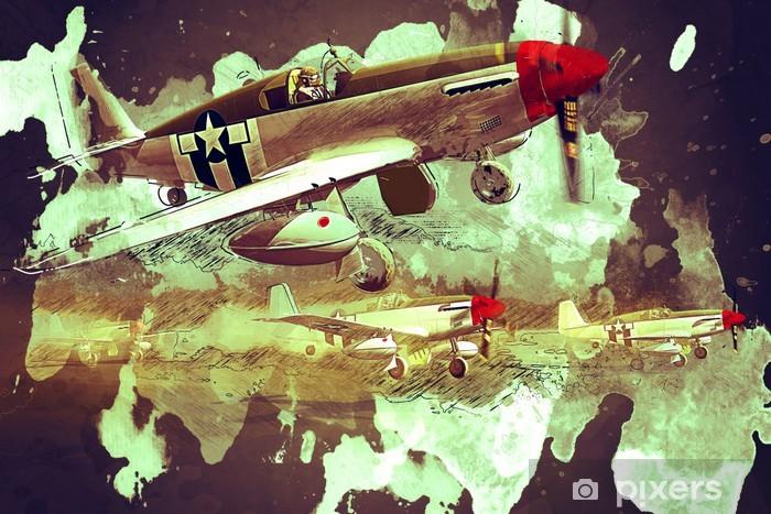 Papier peint vinyle Supermarine Spitfire - Dans les airs