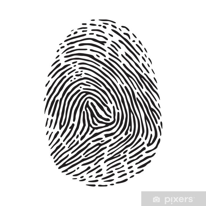 Papier peint vinyle Empreinte digitale - Signes et symboles